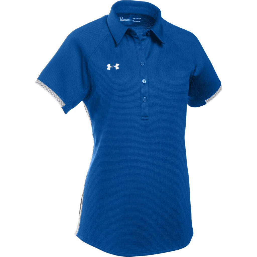 32aab017 Under Armour Women's Royal Blue Team Rival Polo. ADD YOUR LOGO