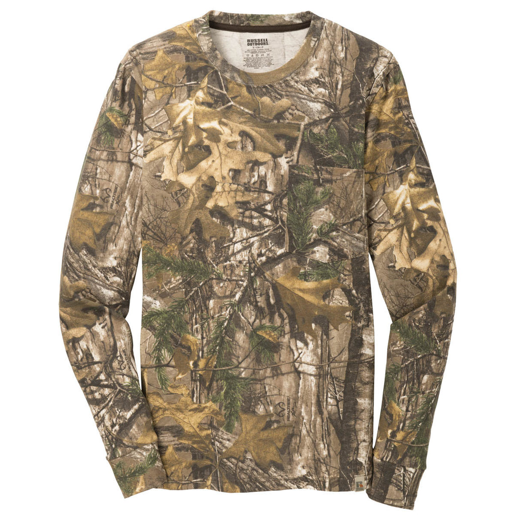 b8762918 Russell Outdoors Realtree L/S Explorer Cotton T-Shirt with Pocket