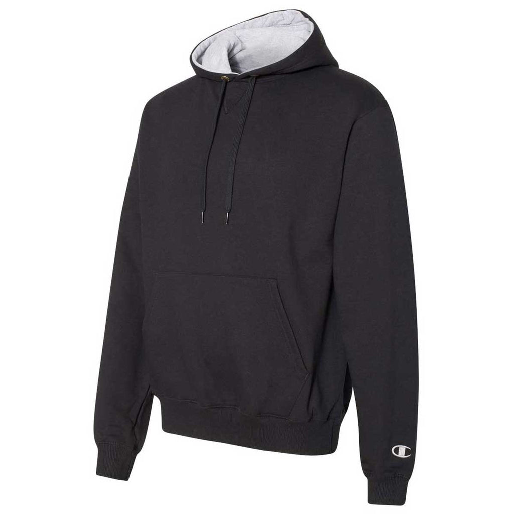 Champion Men's Black Cotton Max Hooded Sweatshirt