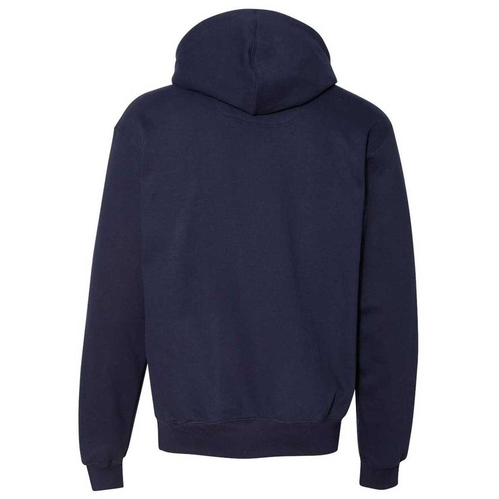 Champion Men's Navy Cotton Max Hooded Sweatshirt