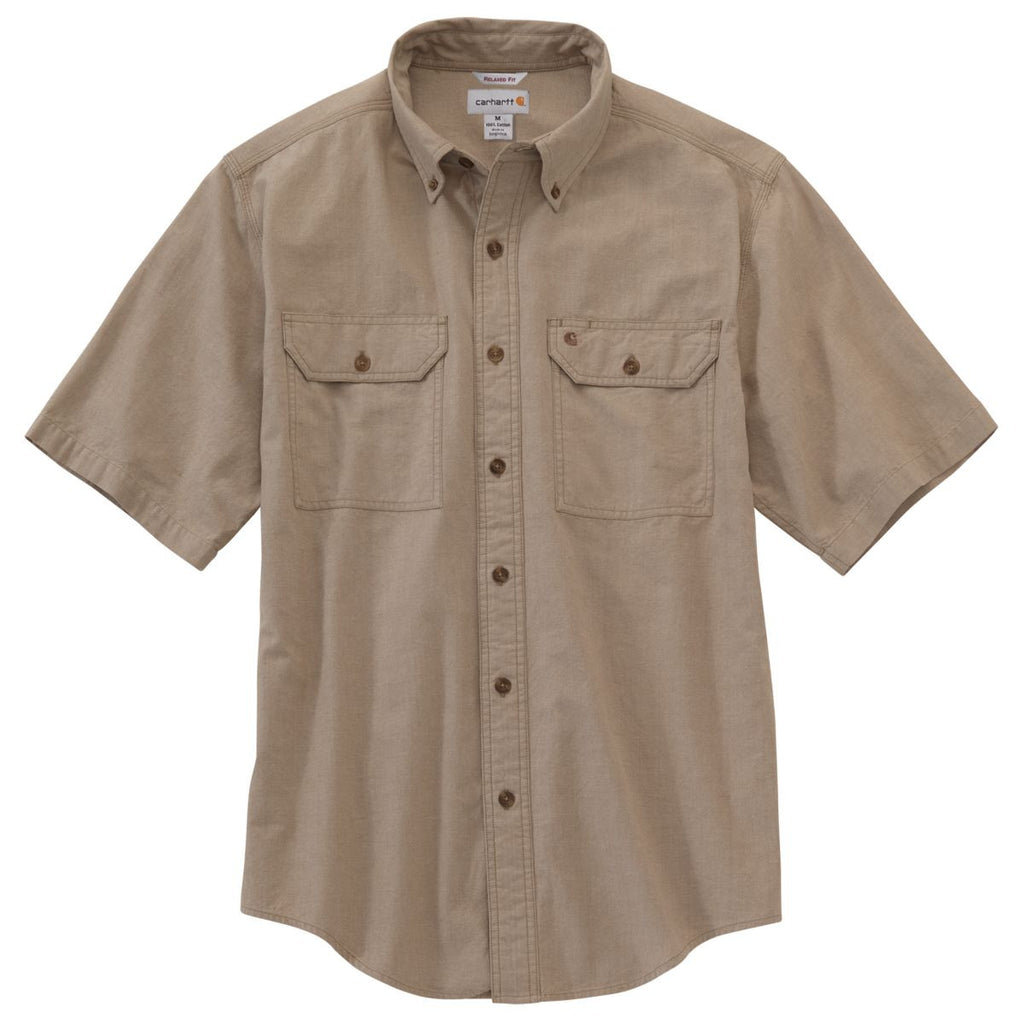 Growmark FS - Carhartt Men's Dark Tan Chambray Fort Solid S/S Shirt