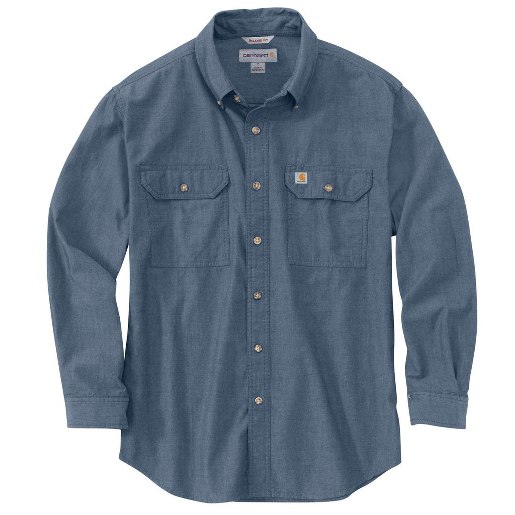 Growmark FS - Carhartt Men's Denim Blue Chambray Fort Solid L/S Shirt
