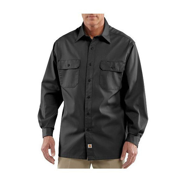 Carhartt Men's Black Twill Long Sleeve Work Shirt