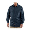 Carhartt Men's Navy Twill Long Sleeve Work Shirt