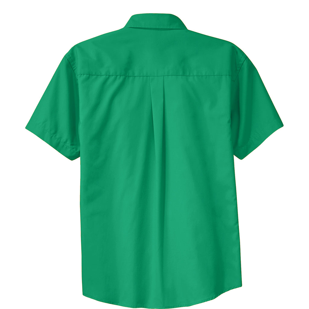 Port Authority Men's Court Green Short Sleeve Easy Care Shirt