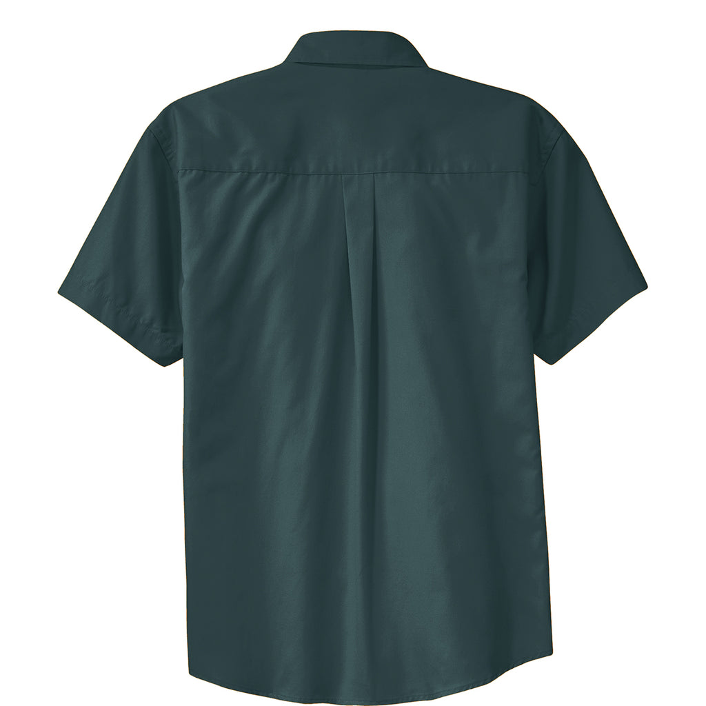 Port Authority Men's Dark Green/Navy Short Sleeve Easy Care Shirt