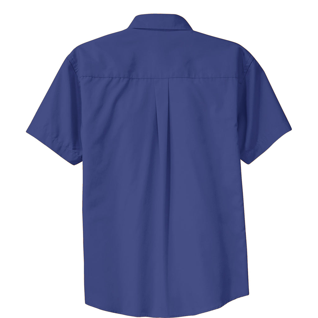 Port Authority Men's Mediterranean Blue Short Sleeve Easy Care Shirt