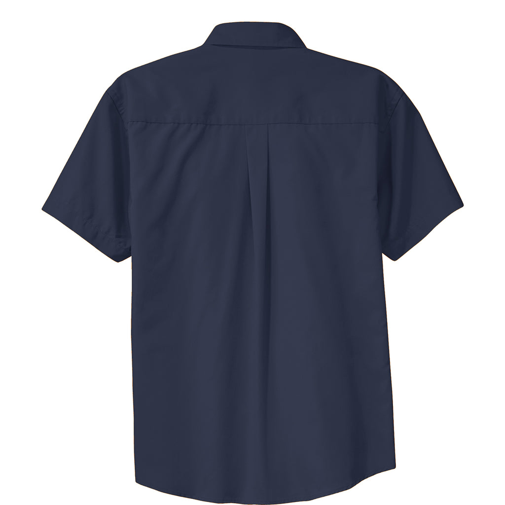 Port Authority Men's Navy/Light Stone Short Sleeve Easy Care Shirt