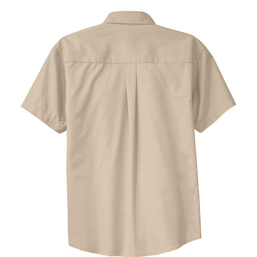 Port Authority Men's Stone/Stone Short Sleeve Easy Care Shirt
