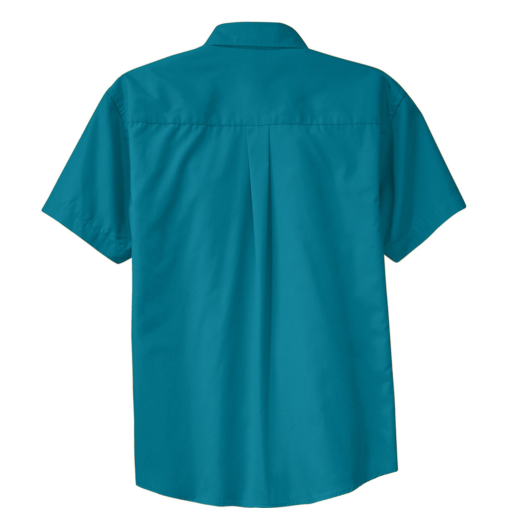 Port Authority Men's Teal Green Short Sleeve Easy Care Shirt