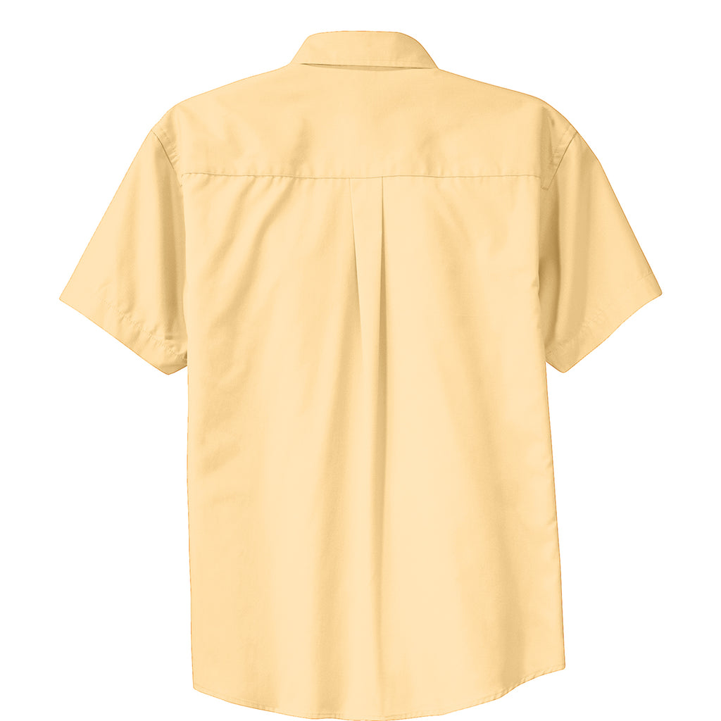 Port Authority Men's Yellow Short Sleeve Easy Care Shirt