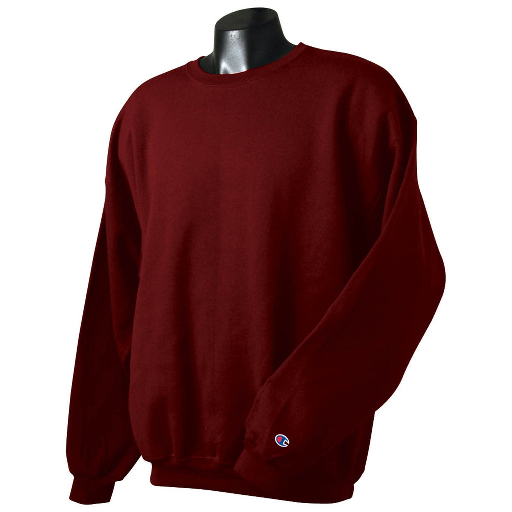 Champion Men s Maroon Crewneck Sweatshirt. ADD YOUR LOGO d801a7a50128
