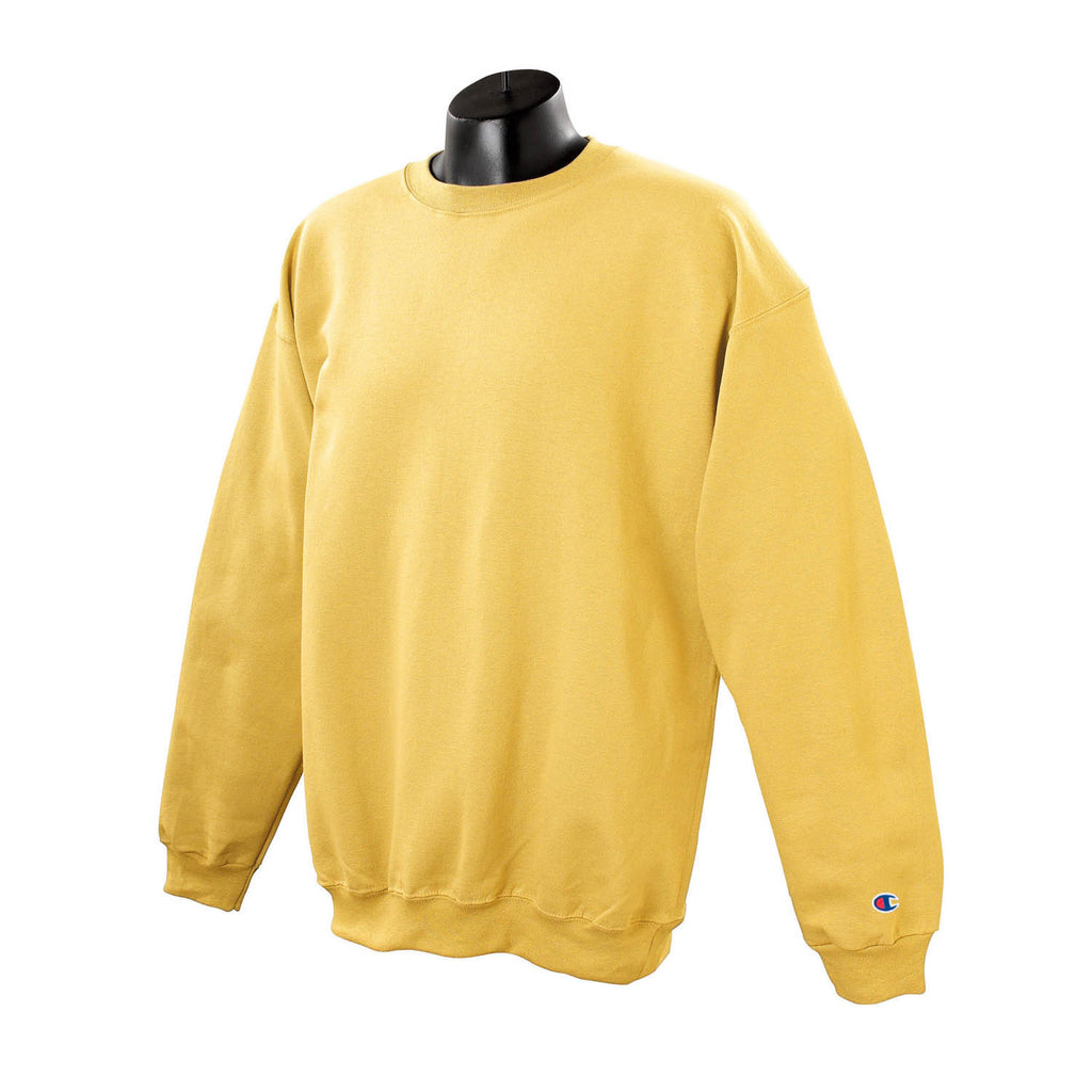 Champion Men s Yellow Crewneck Sweatshirt 38e01c8eb0de
