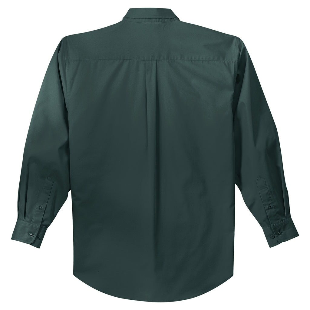 Port Authority Men's Dark Green/Navy Extended Size Long Sleeve Easy Care Shirt