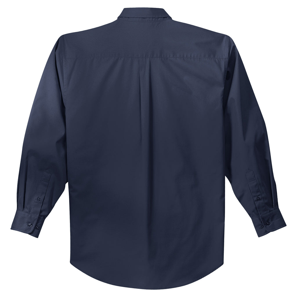 Port Authority Men's Navy L/S Easy Care Shirt
