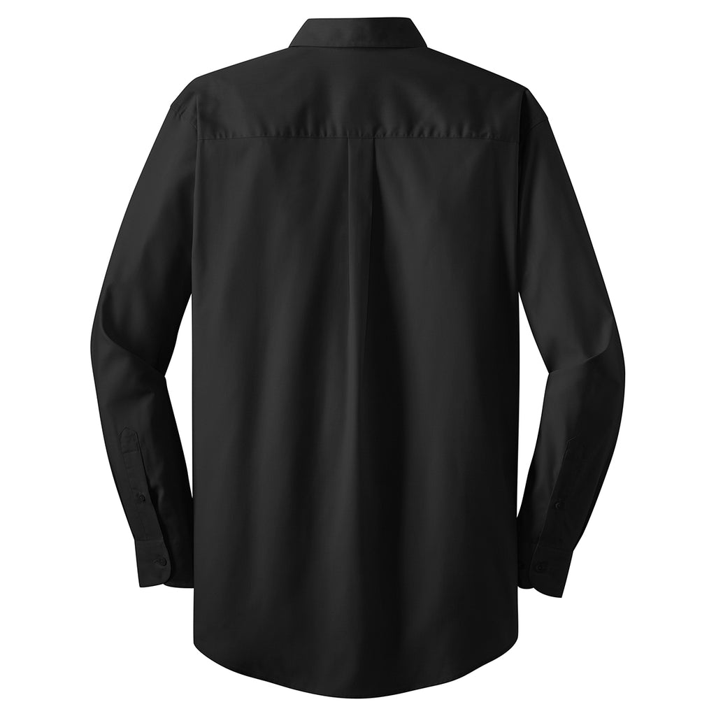 Port Authority Men's Black L/S Value Poplin Shirt