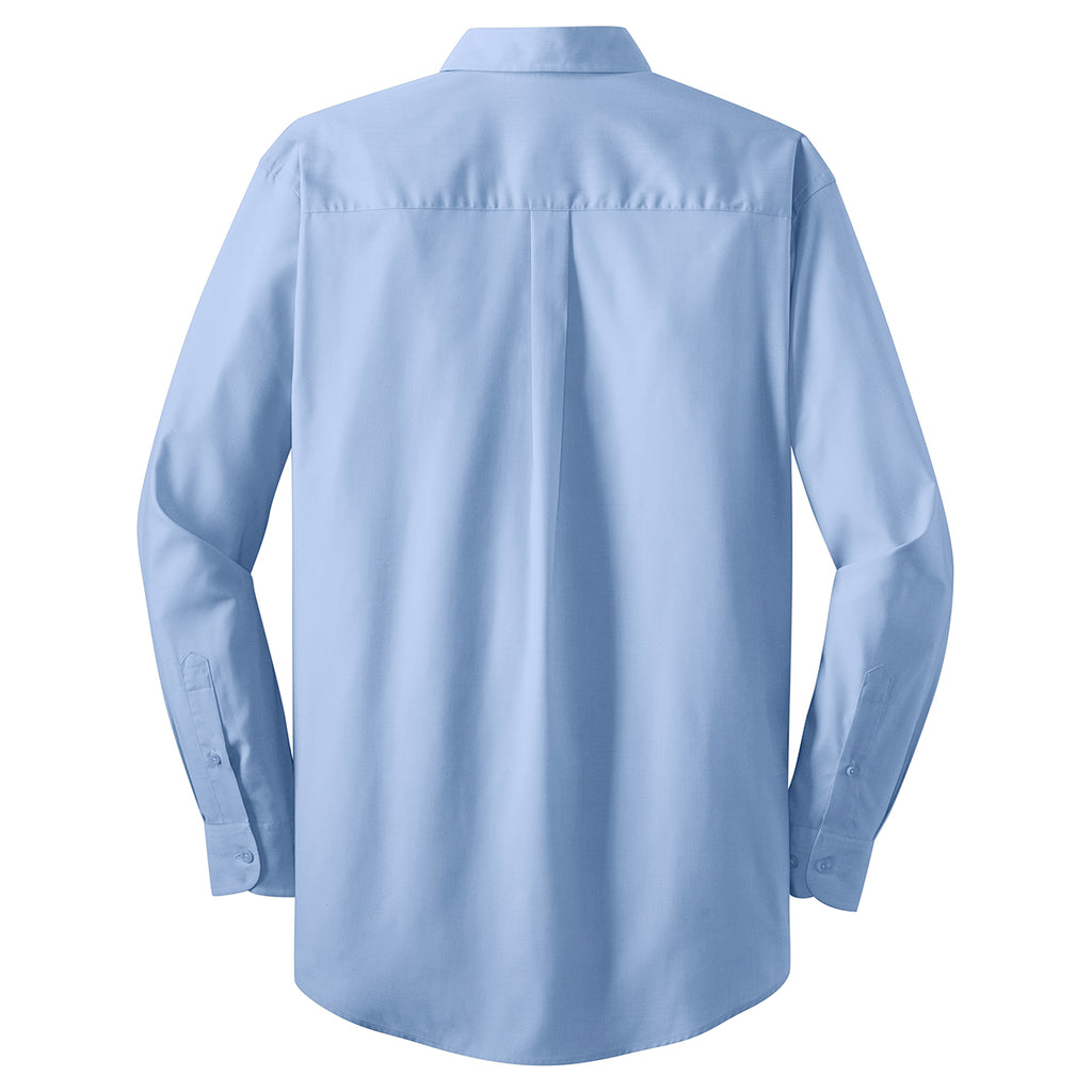 Port Authority Men's Light Blue L/S Value Poplin Shirt