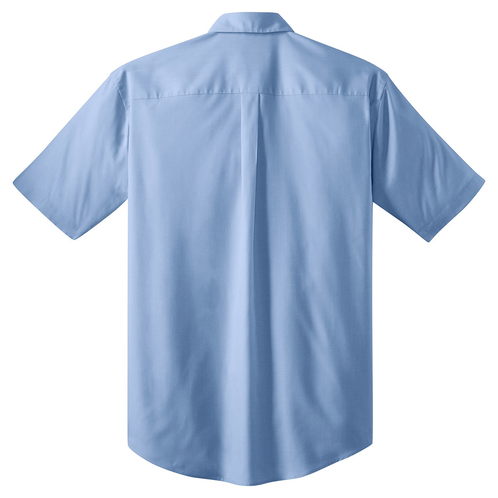 Port Authority Men's Light Blue S/S Value Poplin Shirt