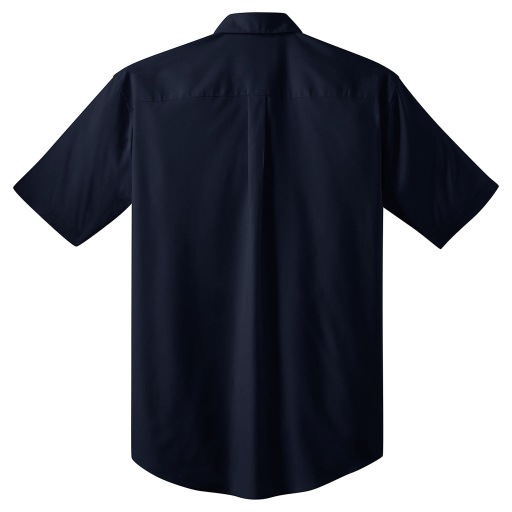 Port Authority Men's Navy S/S Value Poplin Shirt