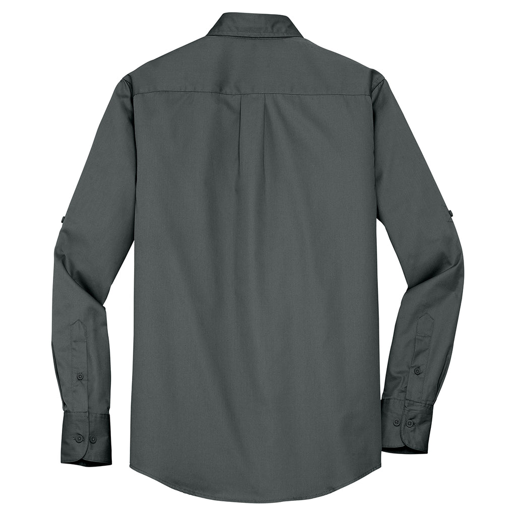 Port Authority Men's Steel Grey Stain Resistant Roll Sleeve Twill Shirt