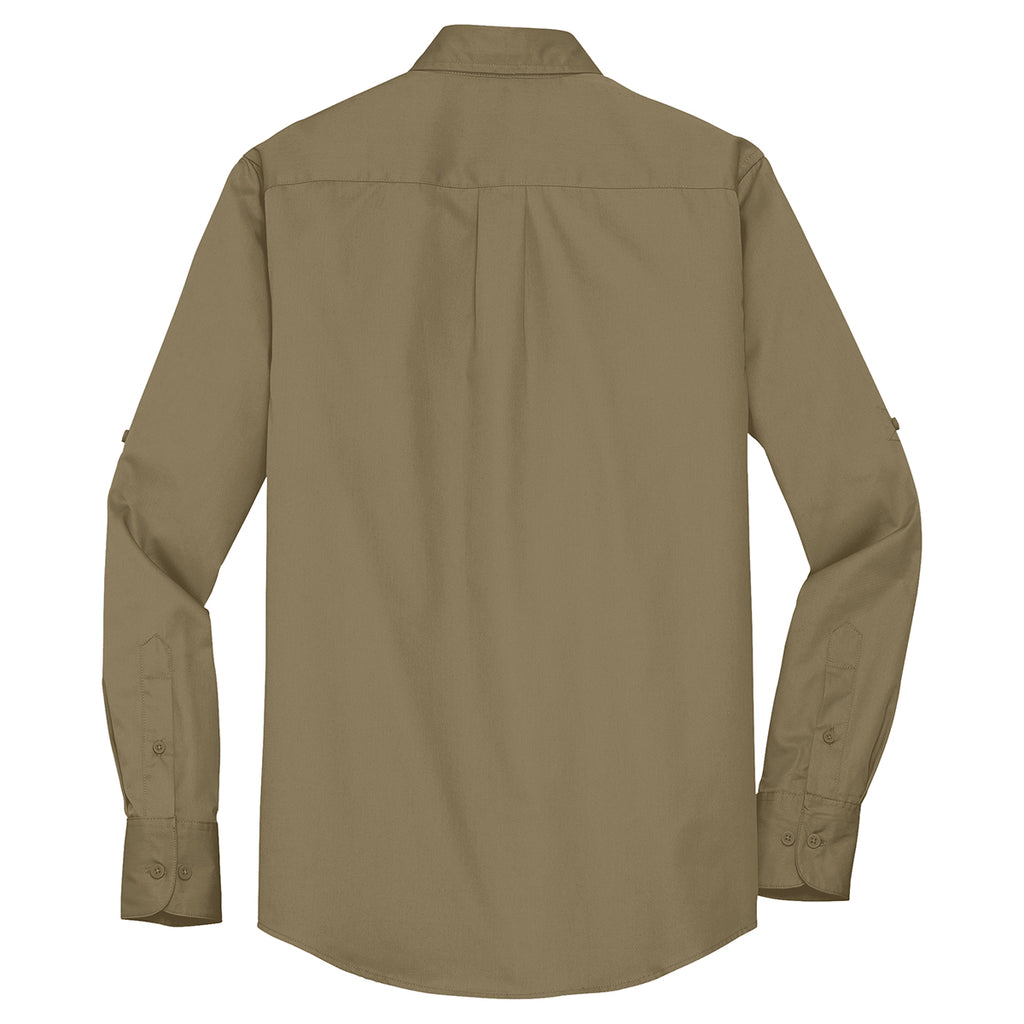 Port Authority Men's Vintage Khaki Stain Resistant Roll Sleeve Twill Shirt
