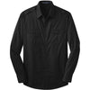 port-authority-black-twill-shirt