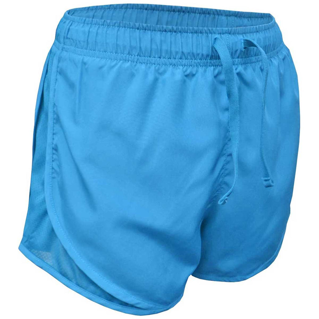 Columbia Blue Solid Running Shorts