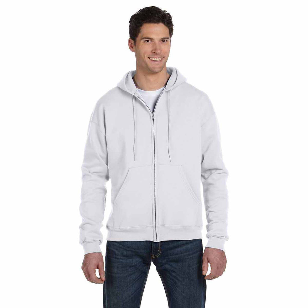Champion Men's Silver Grey Eco 9-Ounce Full Zip Hood