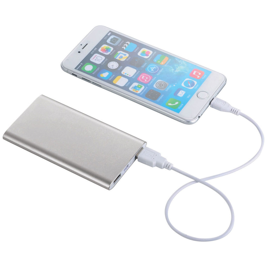Bullet Silver Sleek Aluminum 4,000 mAh Power Bank