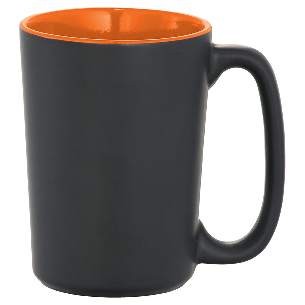 Bullet Black with Orange Trim Elon 13oz Ceramic Mug