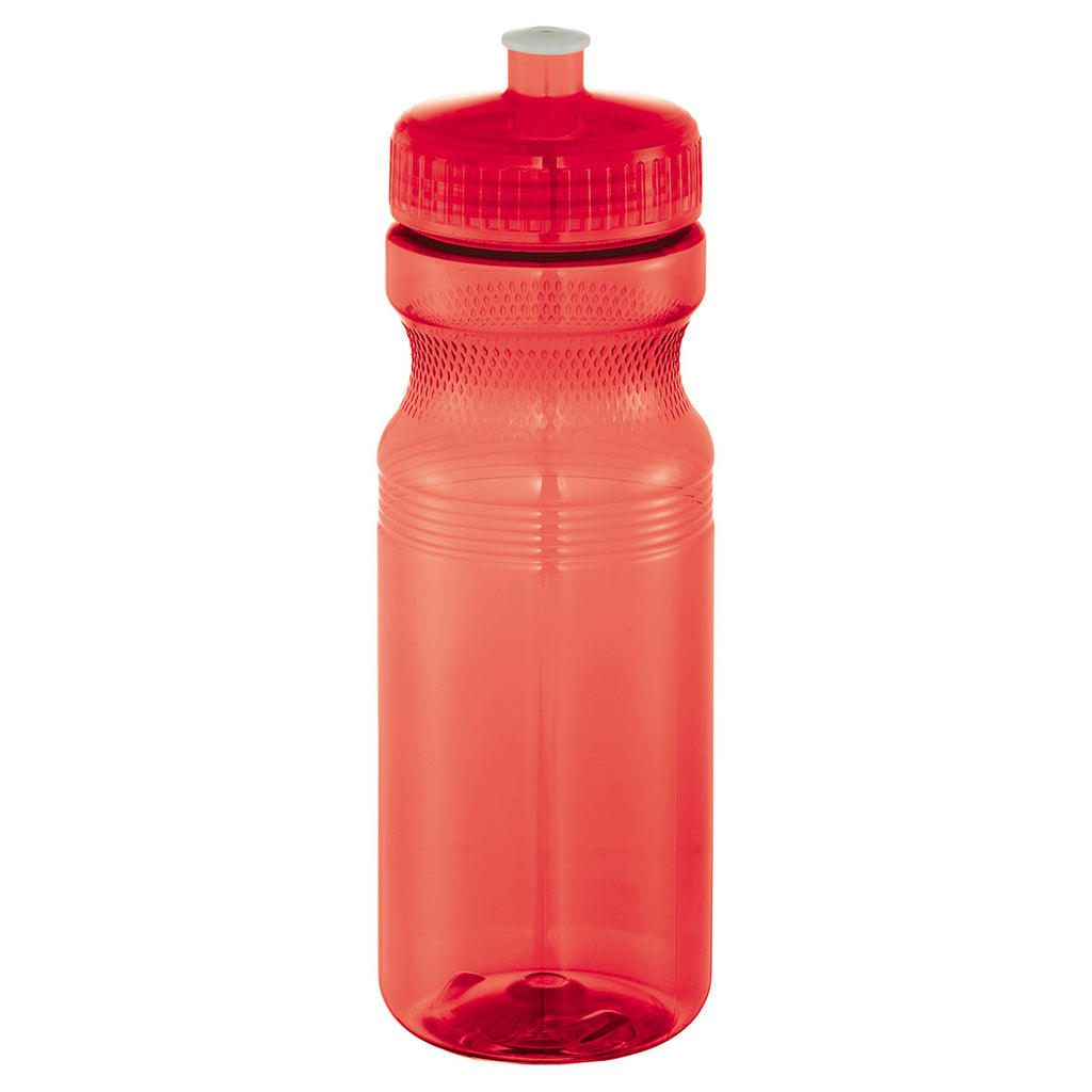 Bullet Translucent Red Easy Squeezy Crystal 24oz. Sports Bottle