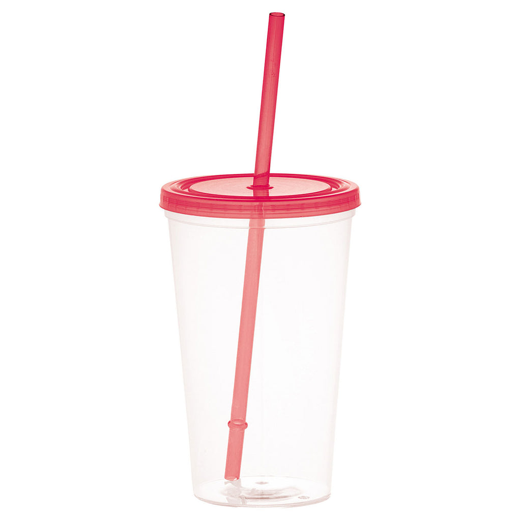 Bullet Translucent Red Glacier 20oz Tumbler with Straw