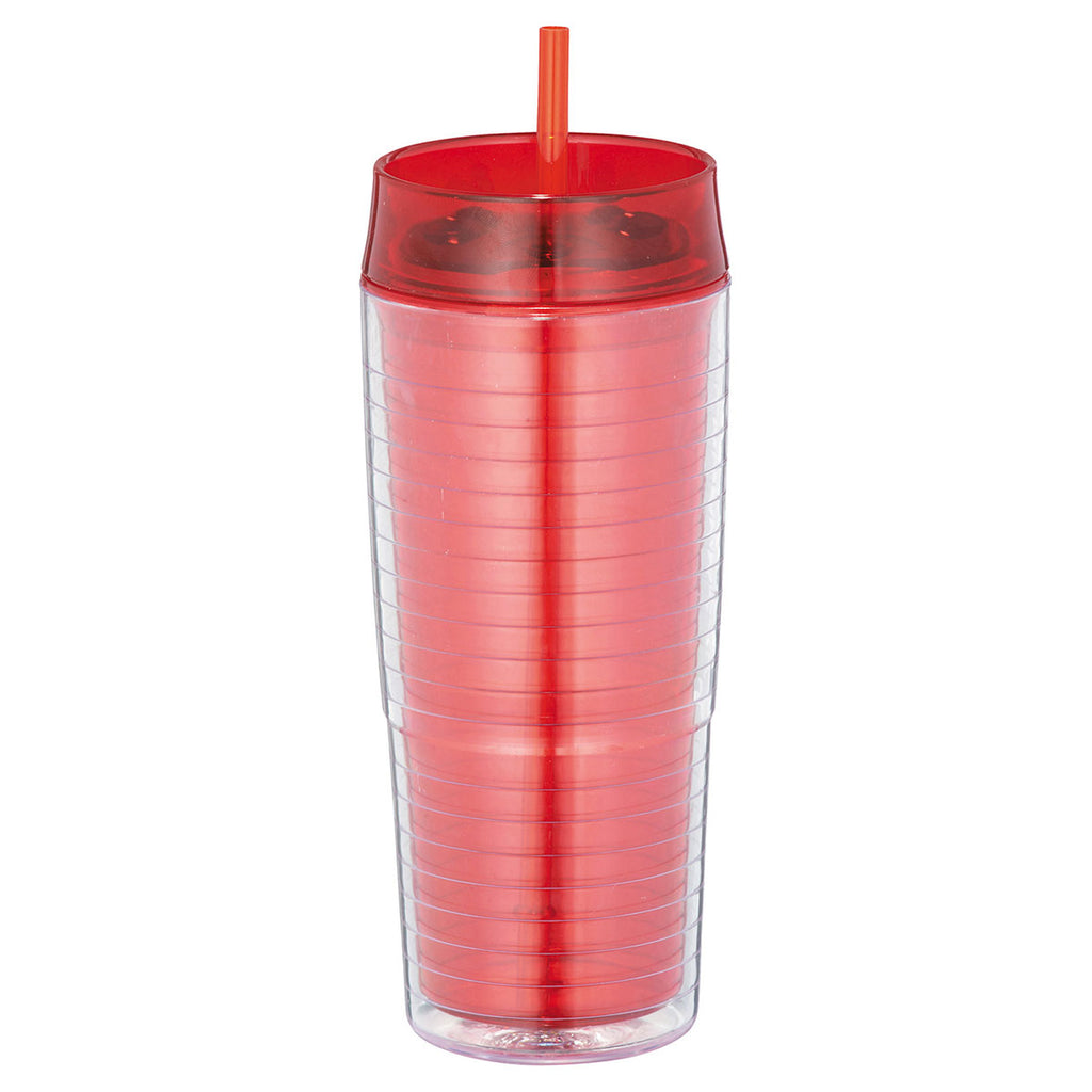 Bullet Red Xander 20oz Tumbler with Straw