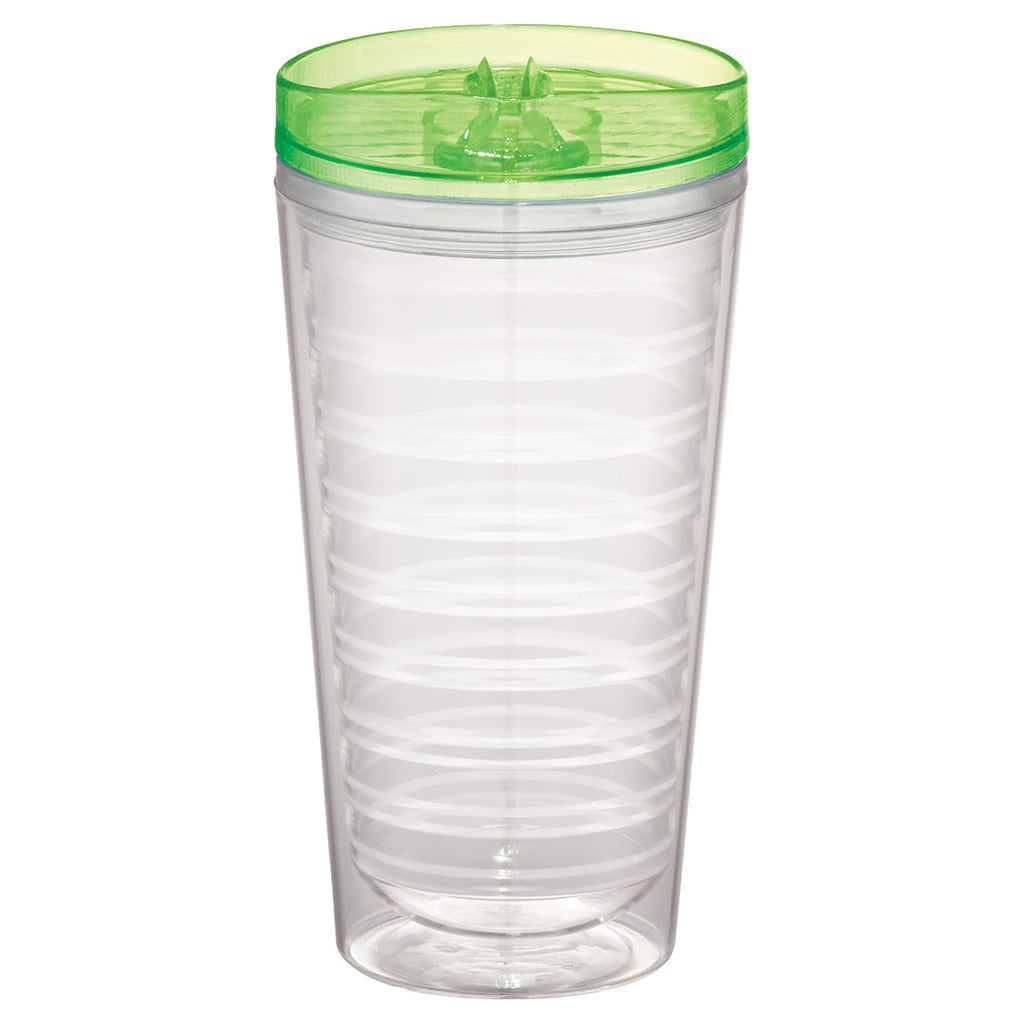 Bullet Translucent Green Bayside 16oz Double Wall Tumbler with Lid