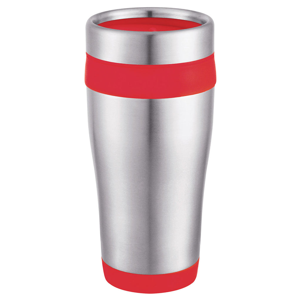 Bullet Stainless Steel with Red Liner Carmel 16oz Travel Tumbler