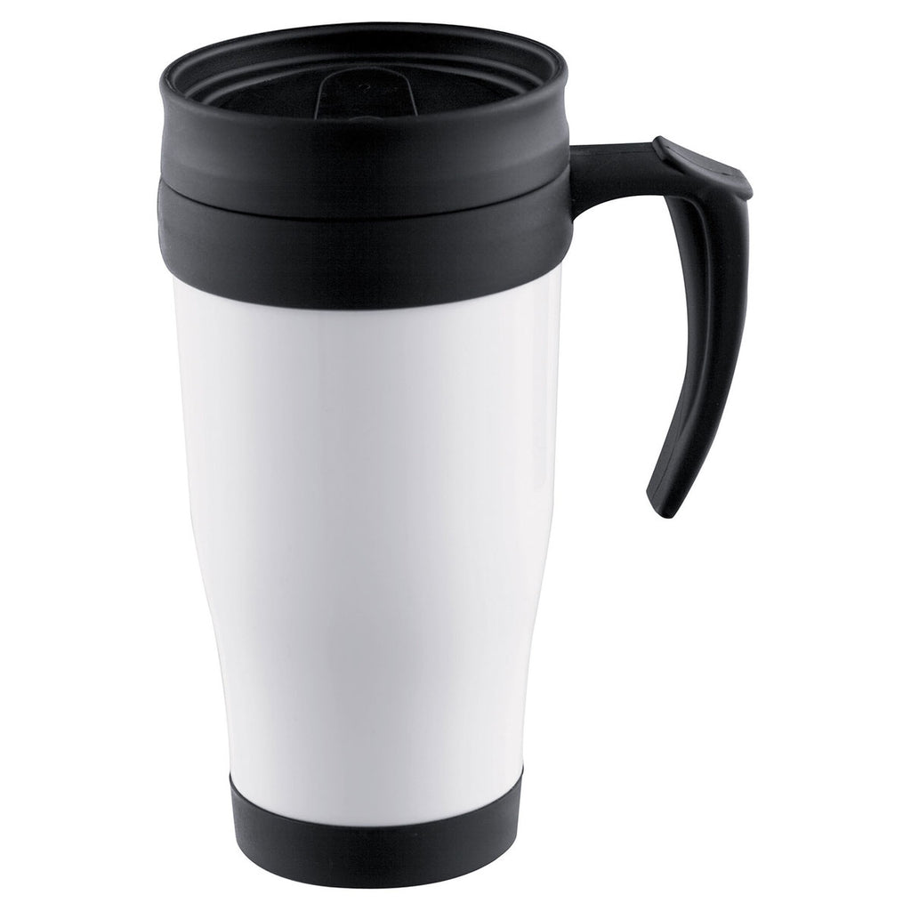 Bullet White Modesto 16oz Insulated Mug