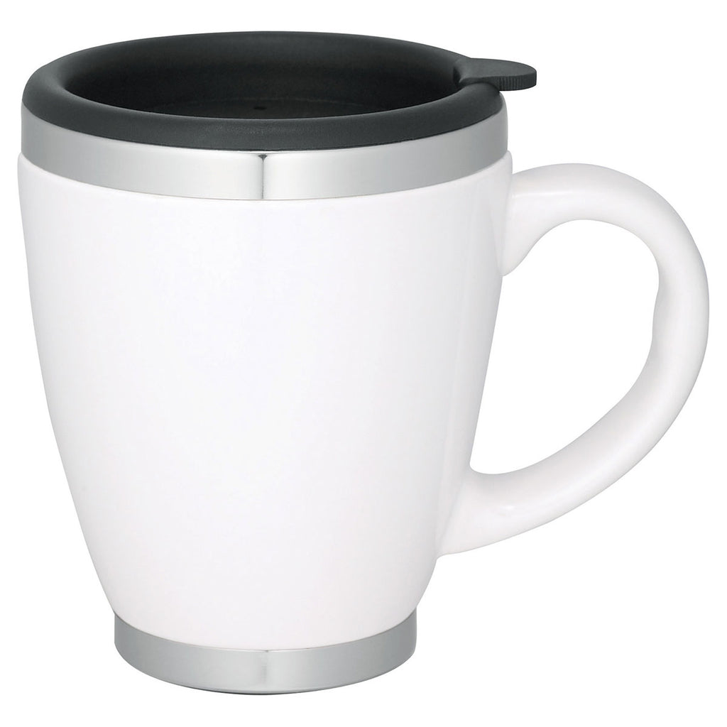 Bullet White Collier 14oz Ceramic Coffee Mug