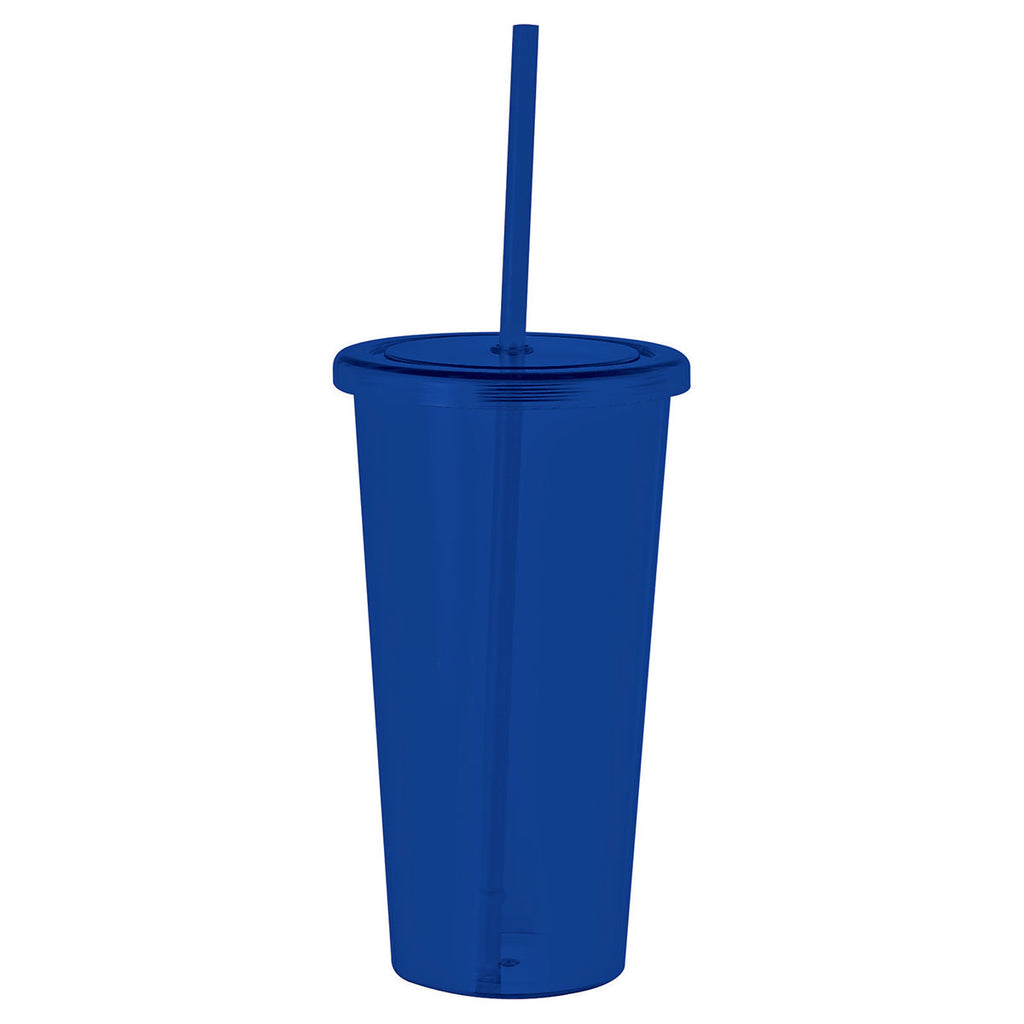 Bullet Translucent Royal Blue Sizzle 24oz Tumbler