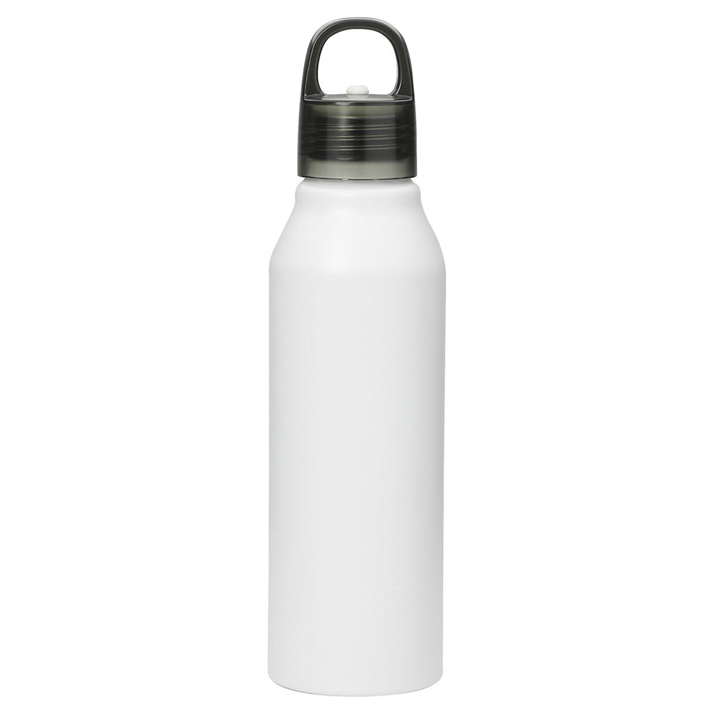 Bullet White Crescent 27oz Aluminum Sports Bottle