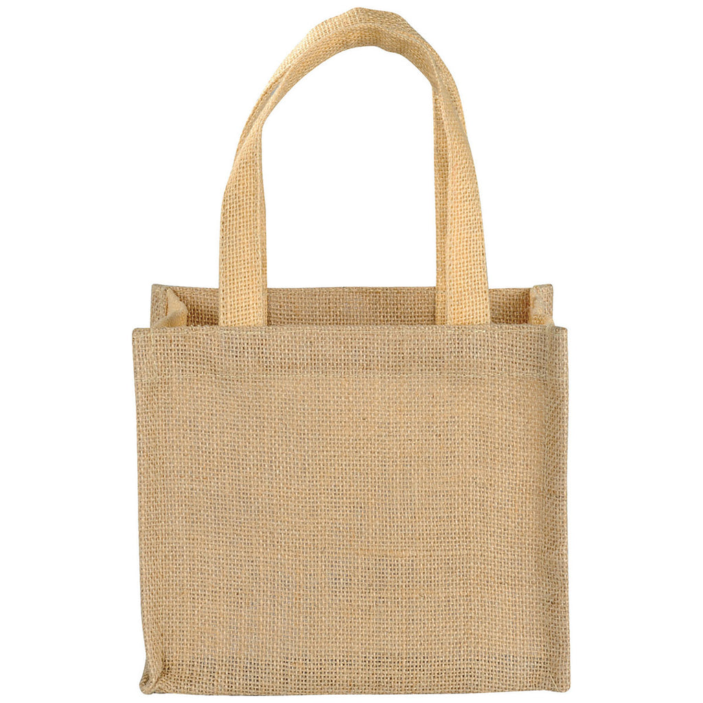 Bullet Cream Mini Jute Gift Tote