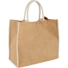 Bullet Cream Large Jute Tote