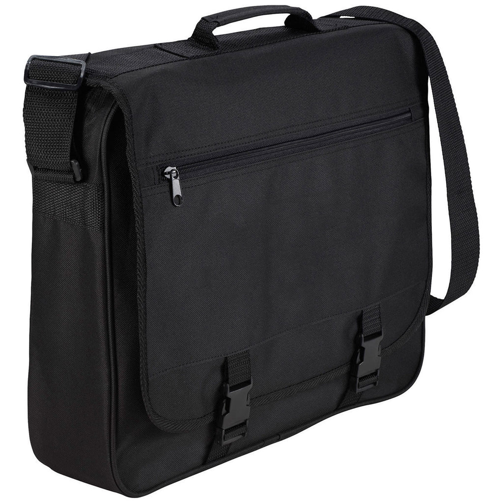 Bullet Black Anchorage Double Clip Messenger Bag