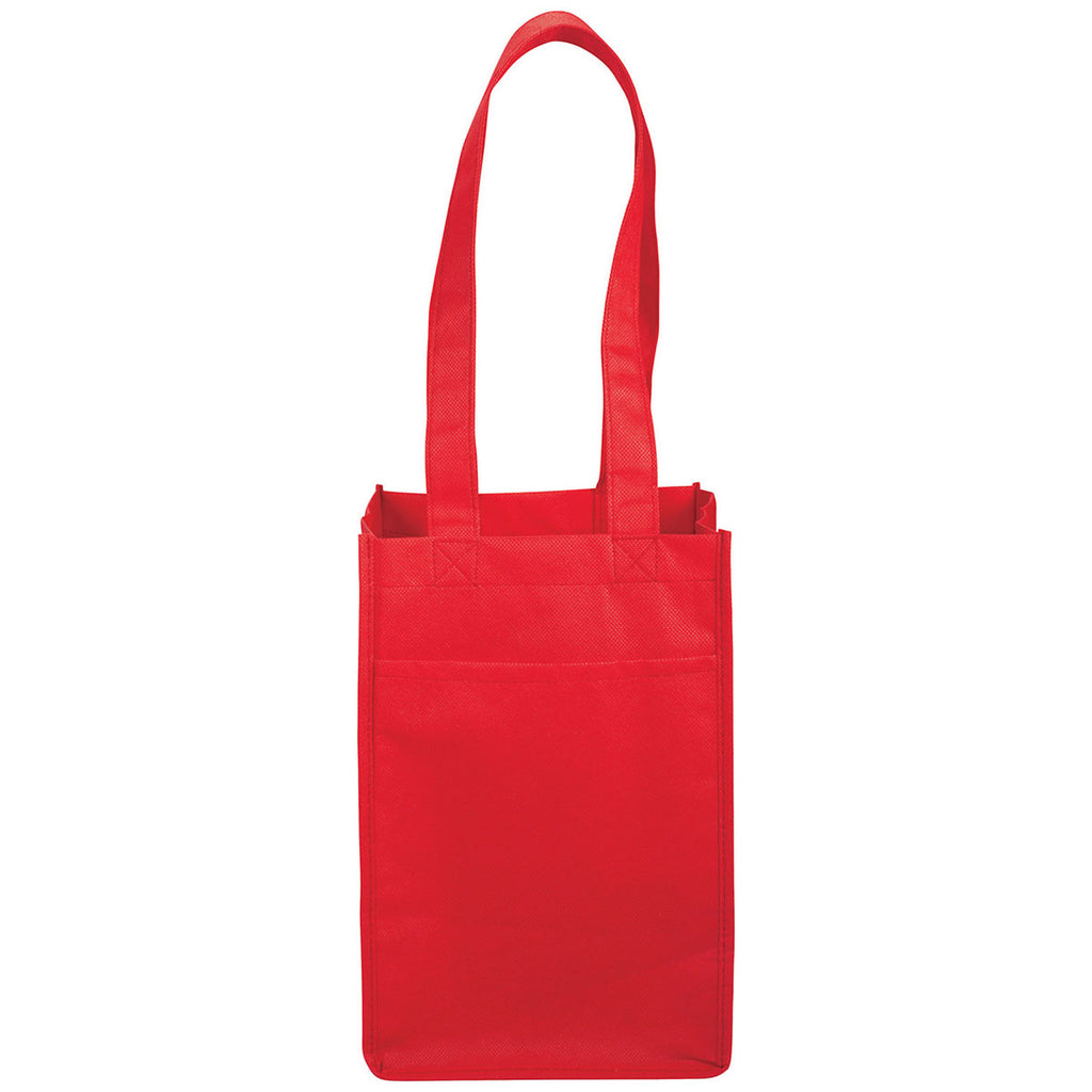 Bullet Red 4 Pack Non-Woven Wine Tote