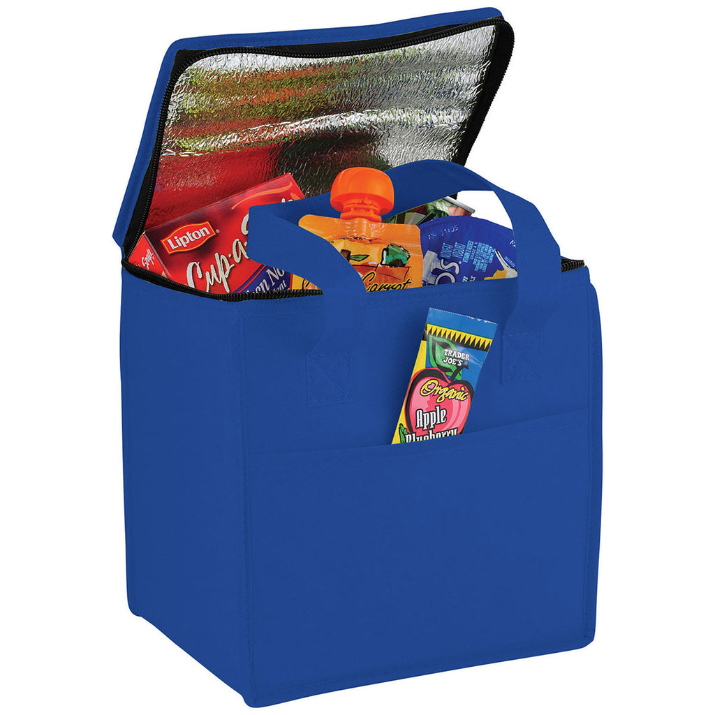 Bullet Royal Blue Cube 9-Can Non-Woven Lunch Cooler