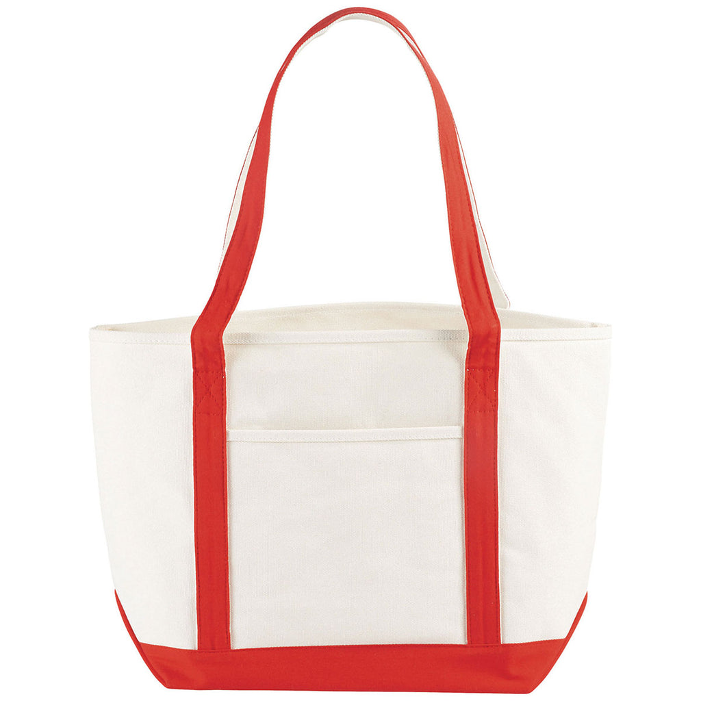 Bullet Red Atlantic 18oz Cotton Canvas Boat Tote