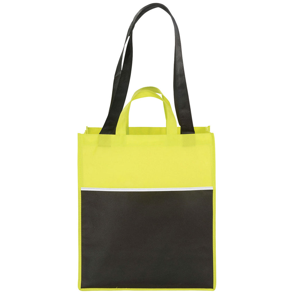 Bullet Lime Green Checkout Non-Woven Shopper Tote