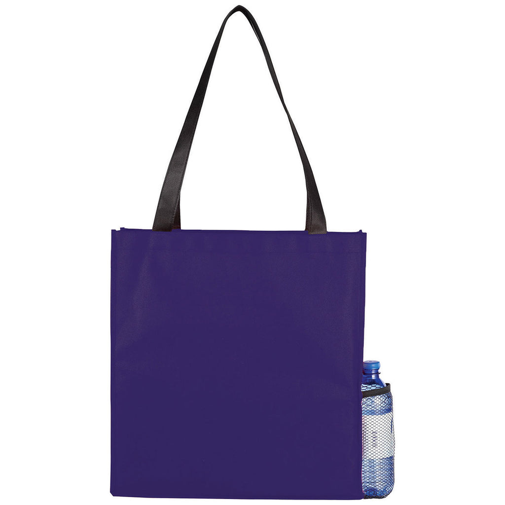 Bullet Purple Boardwalk Non-Woven Convention Tote