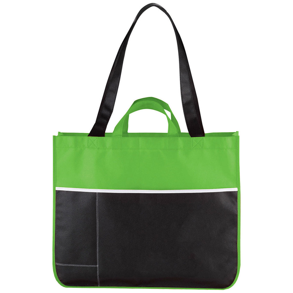 Bullet Lime Green Change Up Non-Woven Convention Tote