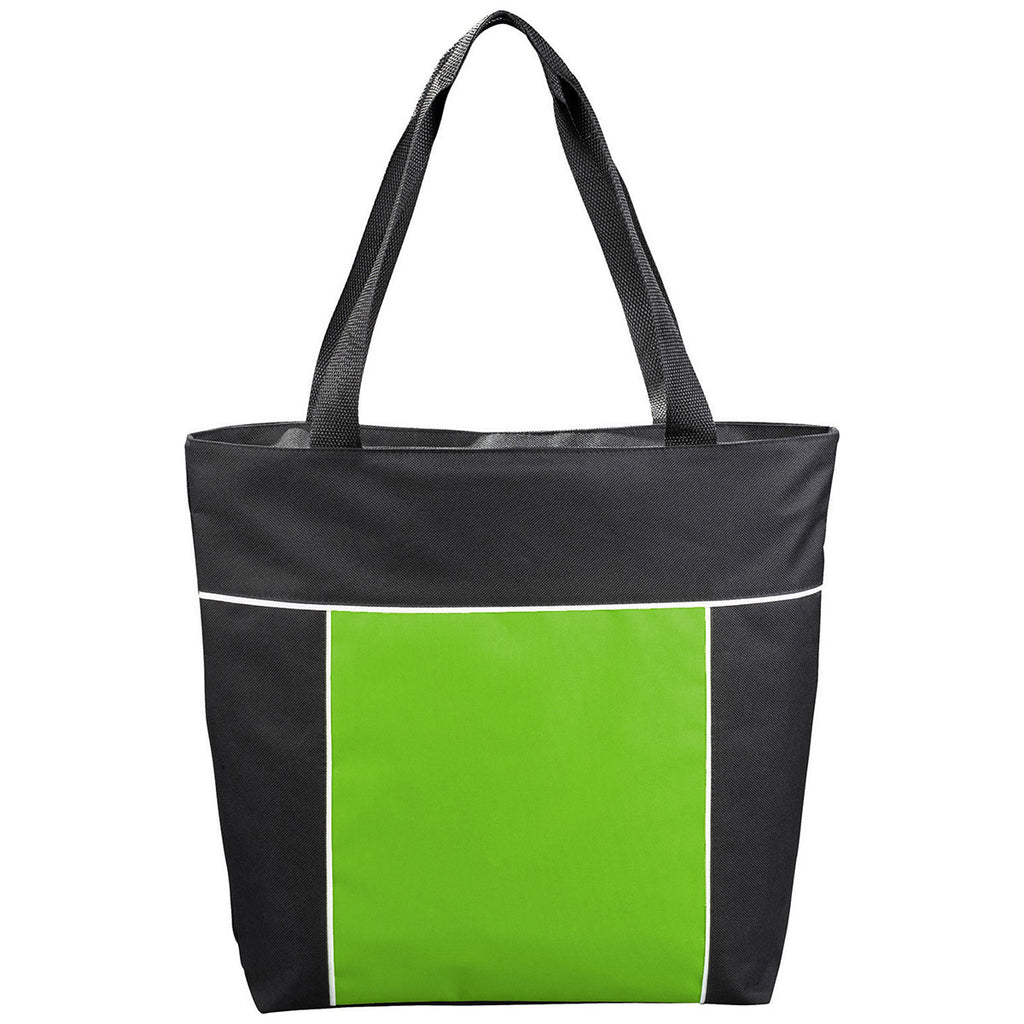 Bullet Lime Green Broadway Zippered Convention Tote
