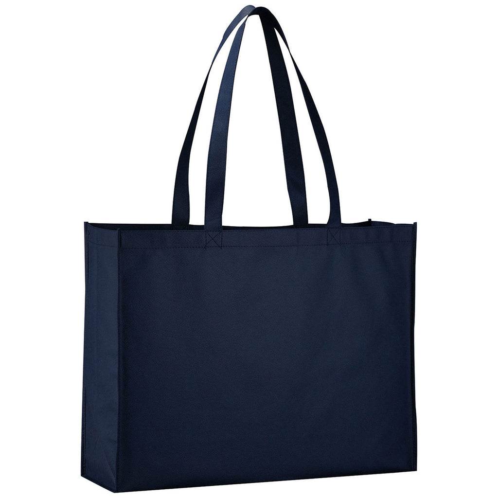 Bullet Navy Blue Gypsy Non-Woven Shopper Tote